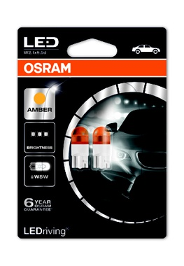 Автолампи LED WY5W, 12V W5W YELLOW - 2бр/блистер