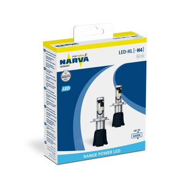 Автолампи NARVA, Range Power LED - HL H4 6000K, 2 бр/к-т