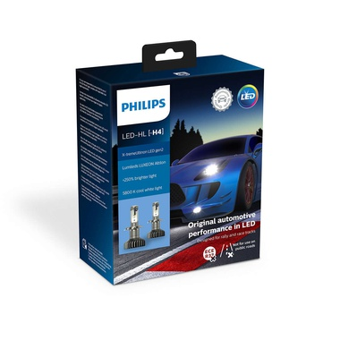 Автолампи PHILIPS, X-tremeUltinon LED gen2 LED H4 11342 XUW     X2